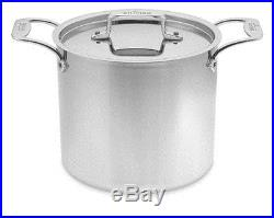 All Clad 7 quart d5 STOCK POT with LID #SD55507 Polished Stainless Steel New