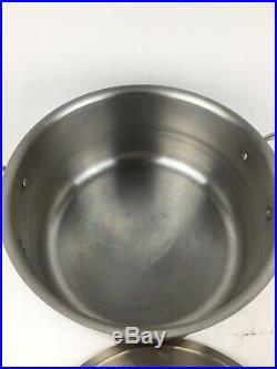 All-Clad 8 Qt Stock Pot Stainless Steel Please Read Description Damage