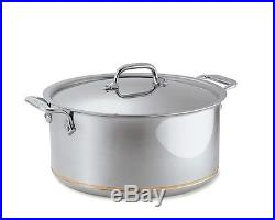All Clad 8 Quart COPPER CORE #6508 STOCK POT with LID d5 Stainless Steel NEW