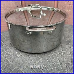 All-Clad 8-Quart Cookware Stainless Steel Stockpot With Lid (B)