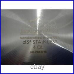 All-Clad BD552043 D5 Brushed 18/10 Stainless Steel Soup Pot & Lid, 4-Quart