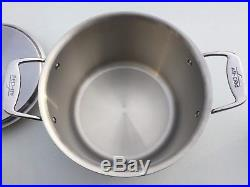 All-Clad BD55512 d5 5-ply Brushed Stainless Steel 12 Quart 12qt Stock Pot with Lid