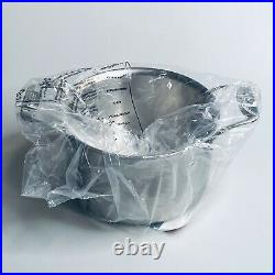 All Clad Brushed D5 Stainless 4qt Soup Pot With Lid #BD552043 Induction Ready