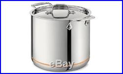 All Clad COPPER CORE 7 Quart d5 #6507 Stainless Steel Tall Stock Pot with lid NEW