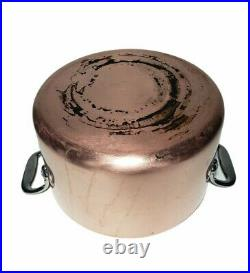 All Clad Copper 4 Quart Pot Stainless Steel With Lid