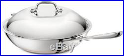 All-Clad Copper Core 12 Chef's Pan with Lid, Polished, Induction, Lifetime