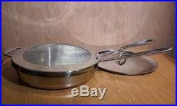 All-Clad Copper Core 3 Qt Saute Pan with Lid and Splash Screen 11 inch, Lifetime