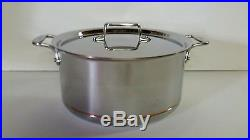 All Clad Copper Core 8 Qt Stock Pot Stainless Factory Second with New D5 Lid