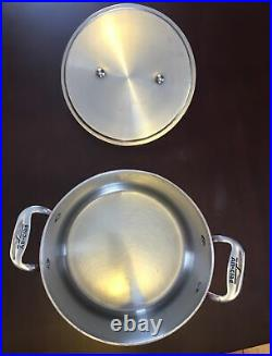 All-Clad Copper & Stainless Steel 4QT Stock Pot Made In USA Rare