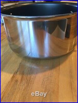 All-Clad D55508NS D5 Polished Non-Stick 5-Ply 8qt Stock Pot(No Box)