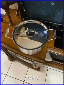 All-Clad D5 8 Qt Stock Pot brushed Stainless 5-ply (see Details)