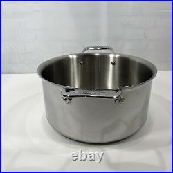 All-Clad D5 8qt Stock Pot Sauce Pot Stainless Steel 5-ply Cookware 11 No Lid