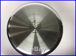 All-Clad D5 Polished 7-Qt. Stock Pot with All-clad ladle. Factory Second