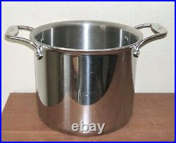 All Clad D5 Stockpot 7qt Stewpot Stainless Steel Polished Hd USA No LID Large