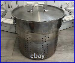 All-Clad E796S364 Specialty Stainless Steel Dishwasher Safe 12 QT Multi Cooker