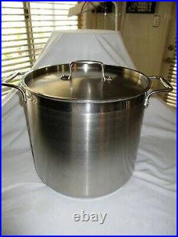 All-Clad Gourmet Accessories Stainless Stockpot w Lid 16 Qt. W Lid Heavy Gauge