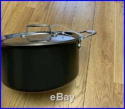 All-Clad LTD Hard-Anodized Stainless Steel 8 Qt Stockpot, Black