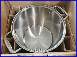 All-Clad Stainless Steel 12qt Stockpot, Strainer, Steamer and Lid