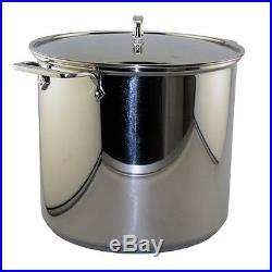 All-Clad Stainless Steel 16 Qt. Pouring Stockpot withLid E9076474 AllClad Cookware