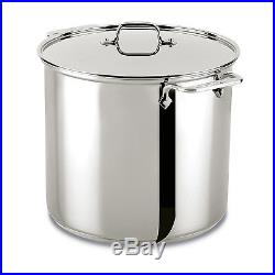 All-Clad Stainless Steel 16 Quart Stockpot With Lid