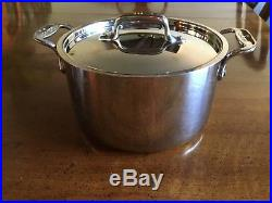 All Clad Stainless Steel 4-quart Stock Pot With LID