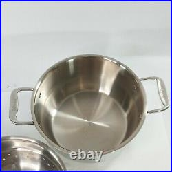 All-Clad Stainless Steel 5 Qt. Stockpot with Steamer #A4 012-4046