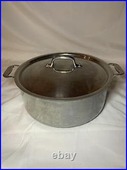 All-Clad Stainless Steel 6 qt stock pot with dual Handles and Lid. 11 LOOK