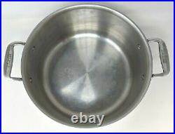 All Clad Stainless Steel 8 Qt 11 Stock Pot Sauce Pan Lid Kitchen Cookware PA21