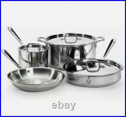 All-Clad Stainless Steel D3(Tri-ply) 7 Piece Cookware Set BRAND NEW! SEALED