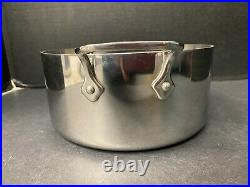 All Clad Stainless Steel Pot 3 QT Casserole Stock Soup with Lid