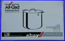 All-Clad Stainless Steel Stockpot Cookware, 7-Quart, Silver 8701004409