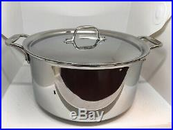 All-Clad Stock Pot 8 Qt Stainless With Nonstick Interior
