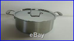 All Clad TK 8 Qt Rondeau Brushed Stainless Thomas Keller w Lid Factory Second