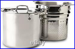 All Clad Tri-Ply 7 qt PASTA PENTOLA STOCK POT LID #4807 Polished Stainless NEW