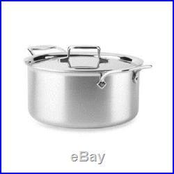 All-Clad Williams Sonoma D55508 D5 Polished 5-Ply 8-qt Stock Pot NO LID