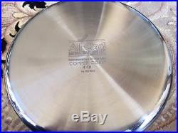 All-Clad copper core 4 quart soup stock pot with laddle