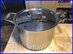 All-Clad d5 12 Quart Stock Pot with Lid Brushed Stainless 5-Ply BD55512 NIB