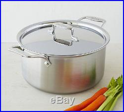 All Clad d5 Brushed 8-Quart Stock Pot 5 Ply Stainless Steel- BD55508- NEW IN BOX