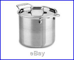 All-Clad d5 Brushed (Flared Rim) Stainless Steel 7 qt Tall Stock Pot NO LID