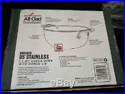 All Clad d5 Brushed Stainless Steel 5.5 Qt Stockpot With Domed Lid