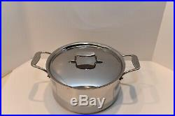 All Clad d5 Polished Stainless 8 Qt STOCK POT with LID 5 Ply Open Stock SD 55508
