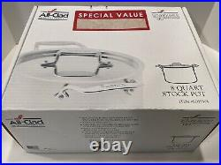 All Clad d5 Polished Stainless 8 Qt STOCK POT with LID in Box 5 Ply SD 55508