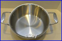 All Clad d5 Stainless 8 Qt STOCK POT with LID 5 Ply Polished Stainless