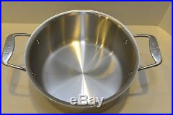 All Clad d5 Stainless 8 Qt STOCK POT with LID 5 Ply Stainless