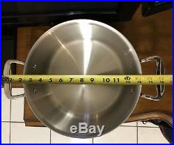 All-Clad d7 8qt Stock pot Dutch Oven, Stainless Steel Polished (No Factory box)