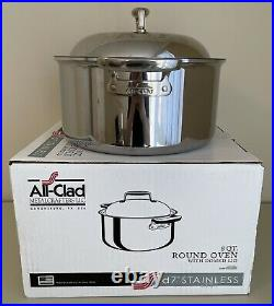 All-Clad d7 Stainless 8 Quart Round Oven with Domed Lid Box Papers Discontinued