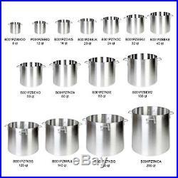 Aluminum Stock Pots & Lids NSF Listed, 16 qt- 160 qt