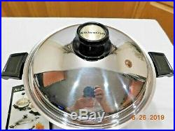 Americraft Kitchen Craft 6 Qt Gourmet Stock Pot Slow Cooker Base 5 Ply Stainless