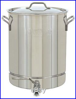 Bayou Classic 1032 Stainless 8-Gallon Stockpot with Spigot and Vented Lid New