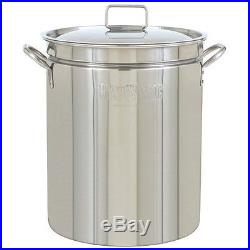 Bayou Classic 1044 Stainless Steel 44 Qt Stockpot Lid Steam Boil Fry Ships in US